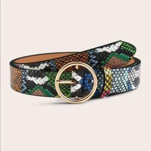 Multi Snake Gold Circle Belt
